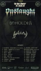 onslaught tour poster